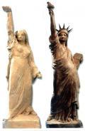 تمثال الحرية في أمريكا يجسد فلاحة مصرية